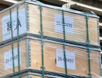 Numeración de las cajas de dinero que llegaron el 1 de agosto al Banco Central de Venezuela