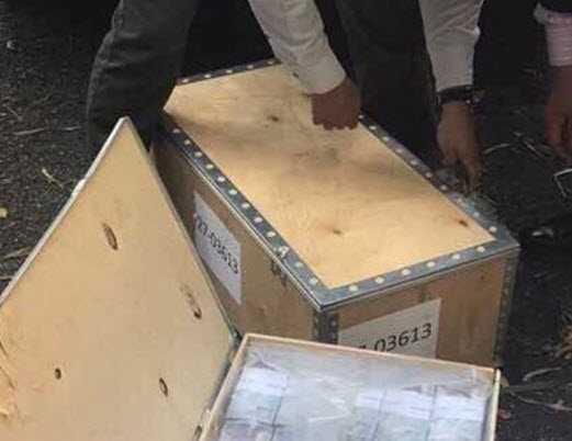 Numeración de las cajas de dinero que incautaron el coche de Lilian Tintori