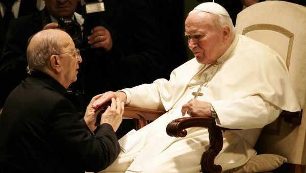 Marcial Maciel junto a Juan Pablo II